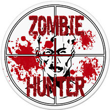 "Zombie Hunter car bumper sticker decal 4"" x 4"""