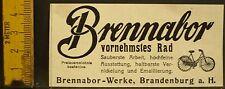 Brennabor vornehmstes Rad,Fahrrad,Brennabor Werke Brandenburg,orig.Anzeige 1907