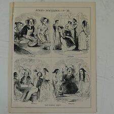 "7x10"" punch cartoon 1841 THE EVENING PARTY victorian drunkeness"