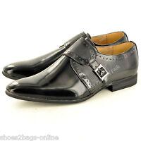 Mens Leather Lined Hi Shine Monk Strap Slip On Formal Wedding Shoes UK Size 5-11