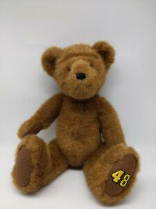 """The Boyds Collection Nascar 48 Teddy Plush Toy 17"""" Rare"""
