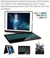 iPad Keyboard Case for iPad 7th Generation 2019, iPad Air 10.5, iPad Pro 10.5