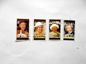 ASCENSION ISLAND: 1996 70th Birthday of Q Elizabeth II 4 values  VFU  MS671/74