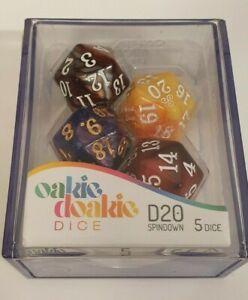 Oakie Doakie DICE - D20, Spindown - Gemidice Selection (5xD20 Dice)
