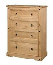 Corona 4 Drawer Chest Mexican Pine Bedroom Cabinet by Mercers Furniture®