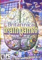 Britannica Brain Games 3 GAMES Sudoku Unlimited Puzzle Potpourri Quiz New in Box