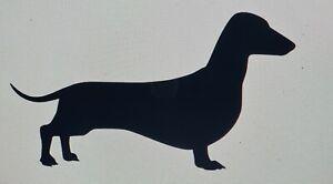 Dachshund Sausage Dog Silhouette Vinyl Sticker Decal Wall Window Bottle Mug Car
