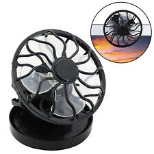 Portable Clip On Solar Cell Fan Sun Power Energy Panel Cooling Summer Cooler