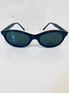 VINTAGE 80's Women's/Unisex Black Glass Lens Unused Deadstock Slim Sunglasses