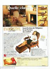 PUBLICITE ADVERTISING 116  1989  Everstyl  fauteuil Déco  catalogue