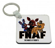 FIVE NIGHTS AT FREDDY'S FNAF GANG  KEYRING SQUARE HIGH GLOSS GREAT GIFT PRESENT