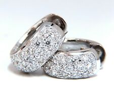1.30ct round natural diamond huggie earrings 14kt bead set