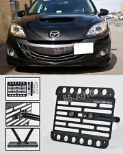 For 10-13 MazdaSpeed 3 Hatch Front Bumper Tow Hook License Plate Mount Bracket