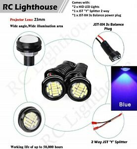 2 Blue HID HD LED Infraction Felony for 1/5 1/7 1/8 1/10 scale racing 12RC 2HD2B