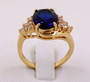 New Jewelry Natural 2.59ct Sapphire 14k Solid Yellow Gold Ring Size 8.5
