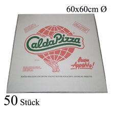 50 Pizzakartons 60 x 60 x 5cm Pizzakarton Pizzabox Karton für Pizza Box Kraft
