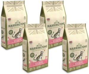 Harringtons Complete Adult Dry Cat Food with Salmon Cats 4 Bags x 2 kg = 8 kg