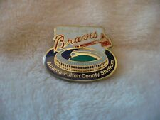 AAB- CHEVRON HOME OF THE BRAVES ATLANTA-FULTON COUNTY STADIUM PIN  #332