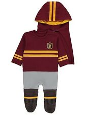 Halloween Harry Potter Quidditch All-in-One Hat & Hooded Cape 6-9m Outfit Wizard