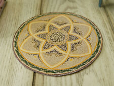 1:12 Muted Color Miniature Dollhouse Round Rug