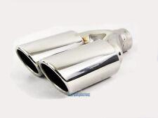 TWIN AMG Stile Acciaio Inox Sport arrotolato in finitura punta pezzo di saldatura gas di scarico