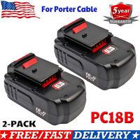 2X PC18B For PORTER-CABLE 18V Battery PC188 PCMVC PCXMVC PCC489N Cordless Tools