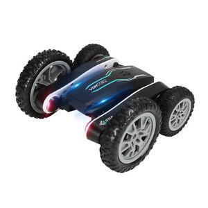 898A 2.4G Flower Stunt RC Car 360° Rotation Colorful LED Light Children's Gift