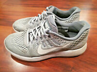 NIKE LUNARGLIDE 8 Women's Athletic Running Sneakers Shoes Grey White Size 7