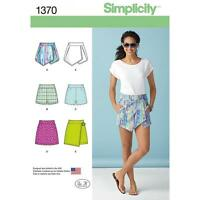 SIMPLICITY SEWING PATTERN MISSES' SHORTS SKORT & SKIRT SIZES 4 - 20 1370