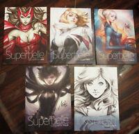 Artgerm Sketchbook set of 5 art books Superbelle Supergirl Batgirl Spider Gwen