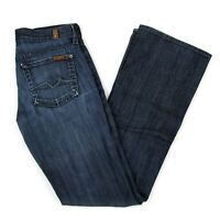 7 For All Mankind Womens Lexie Petite Bootcut Jeans Sz 25 (28 x 31) Dark Wash US