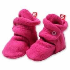 NEW Zutano Original Fleece Booties 12M Hot Pink / Fuchsia Stay-On Baby Socks