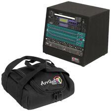 "Odyssey Cases CRS08 Carpeted 8U Studio Slant Rack 12"" Top 16"" Bottom Arriba Bag"