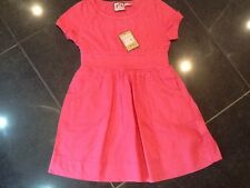NWT Juicy Couture New & Genuine Pink Cotton Dress With Juicy Logo Girls Age 8
