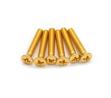 (6) GP090 Grover Gold Tuner Screws For Guitar Tuners Machine head Buttons