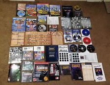 PC GAME LOT of CLASSIC GAMES CDs and Strategy Guides
