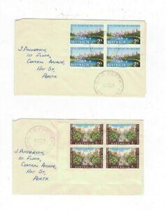 Australia 1956 Olympics x 4 on Plain FDCs,cds GPO PERTH WA    (4 Covers)