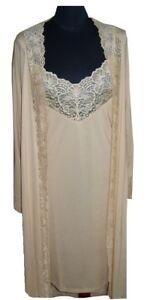 Ladies Dressing Gown Bathrobe Nightwear Modal Ecrue Comfort Robe S M L NEW