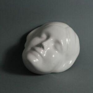 "GERMANY | Rare wall death mask ""  L'inconnue de la Seine Goebel "" (1933)"