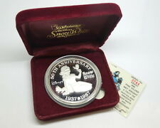 DISNEY Snow White 50th Anniversary 1937-1987 RM .999 Fine 5 oz Silver Medal Coin