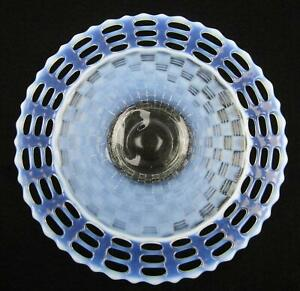 """OZ27 Fenton BASKETWEAVE OPEN EDGE French Opalescent 3-Row 9½"""" Plate"""