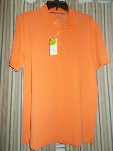 New JOHN BARTLETT Polo Shirt Men's Size S Casual Cotton Short Sleeve Orange