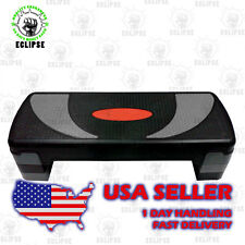 """31"""" Adjustable Aerobic Stepper Step with Risers for Yoga, Exerscise and Fitness"""
