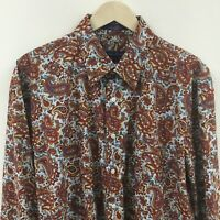 Mens XL ALAN FLUSSER Paisley Shirt -SUPERB- 7c