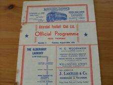 Away Teams A-B Aldershot Football Reserve Fixture Programmes