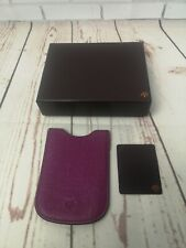 Mulberry purple Leather blackberry Phone Case Cover, retro communication, boxed