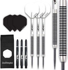 Red Dragon Pegasus Tungsten Steel Darts Set - 26 Gram - White Shafts, White Extr