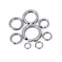 50pcs Stainless steel fishing split ring for blank lures circle loop connectorYB
