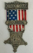 "Bryant Post ""GRAND ARMY OF THE REPUBLIC VETERENS"" GAR Medal From Comrades"