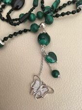 Not Enhanced Malachite Fine Necklaces & Pendants